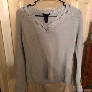 The limited light blue sweater